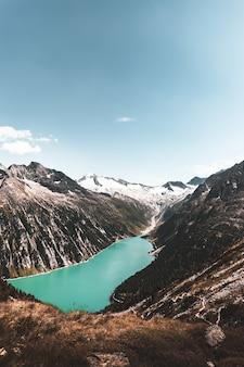 Waterlichaam tussen berg
