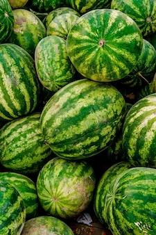 Watermeloen achtergrond zomer fruit market