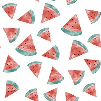 Watermeloen aquarel naadloze patroon.