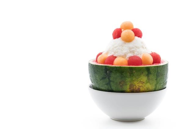Watermeloen bingsu dessert