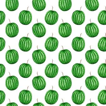 Watermeloen fruit naadloze patronen aquarel