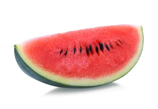 Watermeloen geïsoleerd op een witte achtergrond