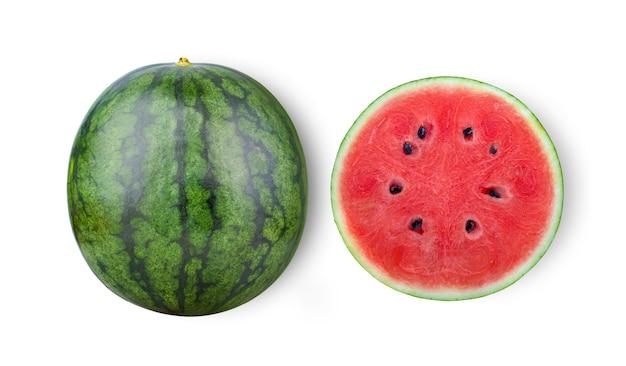 Watermeloen geïsoleerd op een witte ondergrond