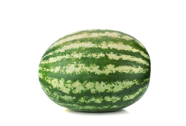 Watermeloen geïsoleerd op wit