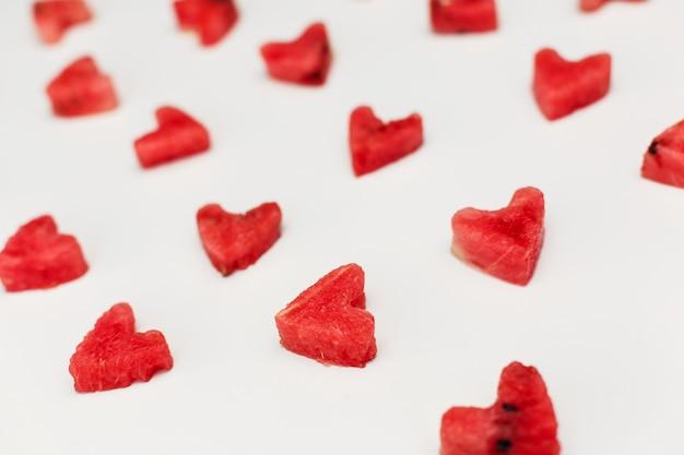 Watermeloen hart textuur.