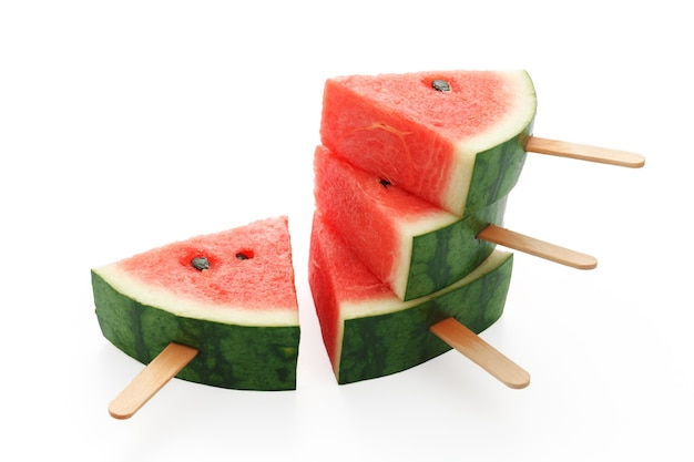 Watermeloen ijslolly lekker vers zomerfruit zoet dessert