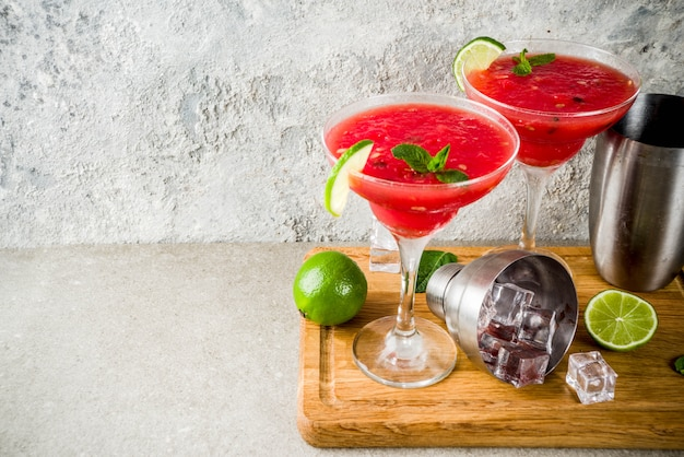 Watermeloen margarita cocktail