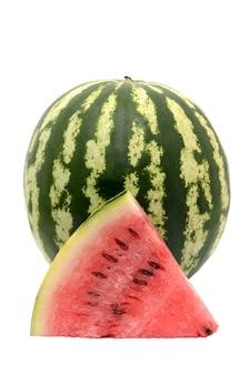 Watermeloen op wit geïsoleerd oppervlak