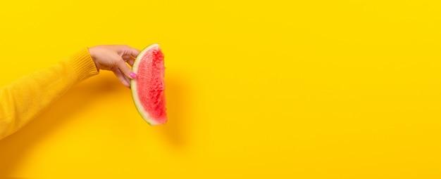 Watermeloen panoramisch mockup