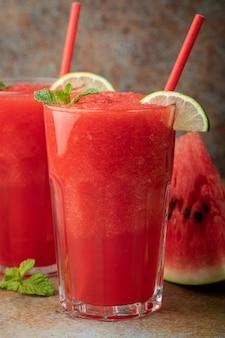Watermeloen slushie zomer verfrissend drankje.