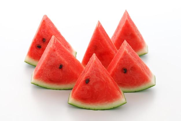 Watermeloen split slide lekker vers zomerfruit zoet dessert