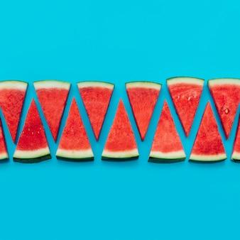 Watermeloenachtergrond met copyspace