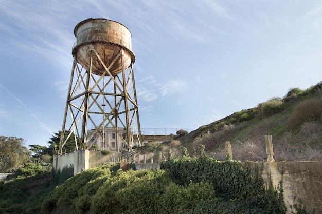 Watertoren op het eiland alcatraz