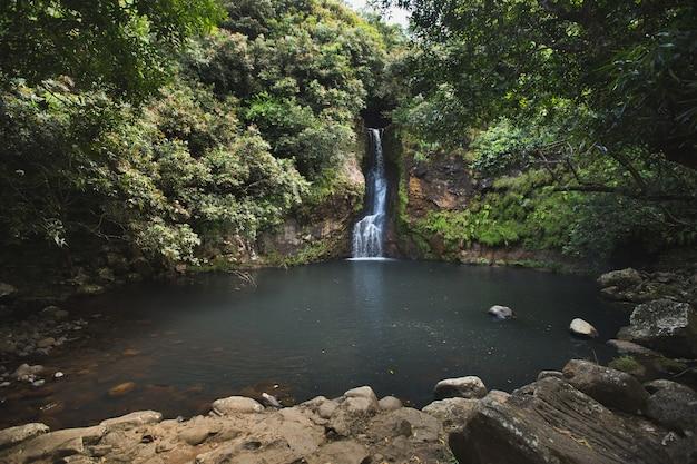 Waterval op het eiland mauritius