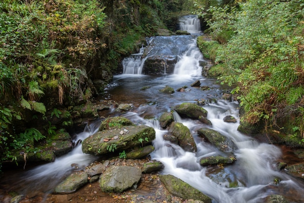 Watervallen en stroomversnellingen bij de east lyn river