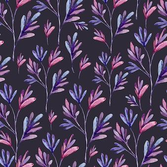 Waterverf abstract naadloos patroon van natuurlijke elementen. natuurlijke textuur