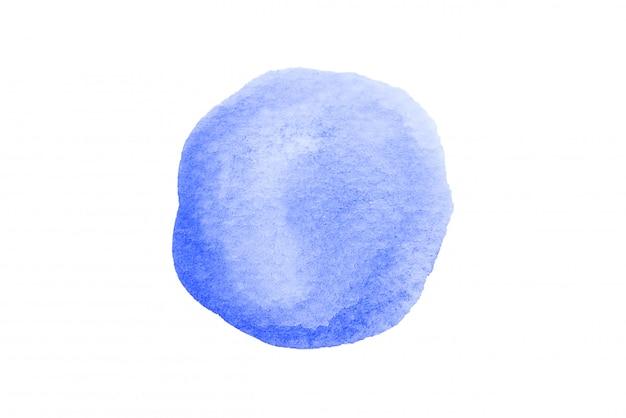 Waterverf donkerblauwe, marineblauwe vlekken die op witte achtergrond met het knippen van weg worden geïsoleerd