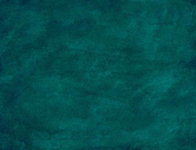 Waterverf het blauwgroen blauwgroene schilderen als achtergrond. aquarel donkerblauw.
