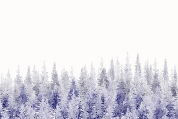Waterverf het schilderen van de bosachtergrond.