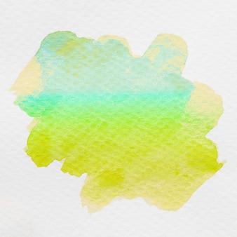 Waterverf met de hand gemaakte abstracte achtergrond met gele en groene kleur