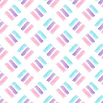 Waterverf naadloos patroon met de textuur van pastelkleurstrepen. modern textielontwerp