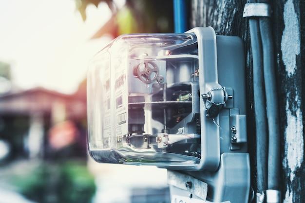 Watthour elektrische meter voor thuisgebruik