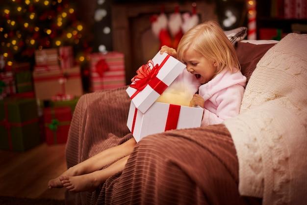 Wauw! mijn cadeau is geweldig!