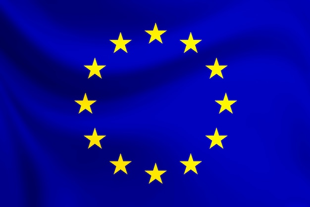 Waver van de vlag van de europese unie