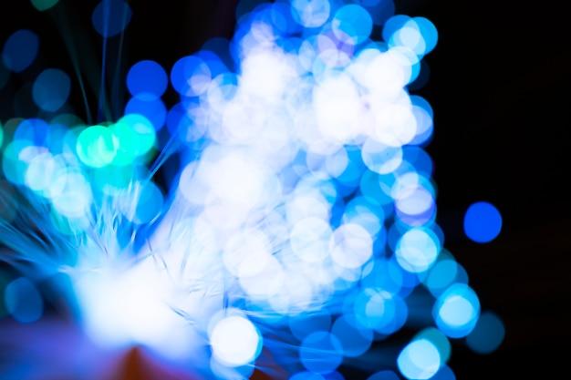 Wazig blauwe optische vezellichten