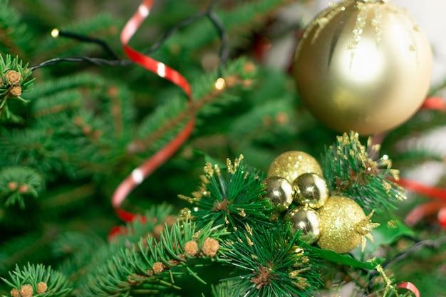 Wazig kerstmis vuren takje textuur achtergrond