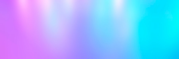 Wazig kleurrijke veelkleurige achtergrond van lichten. iriserende holografische abstracte felle neonkleuren achtergrond. banner
