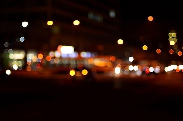 Wazig landschap van de nacht stad