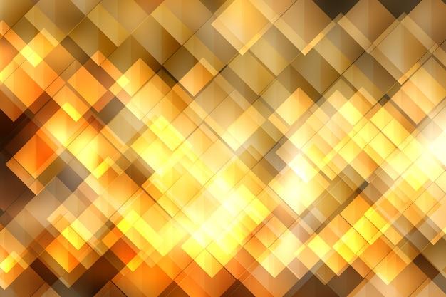 Wazig lichten op gele achtergrond of lichten op gele achtergrond.