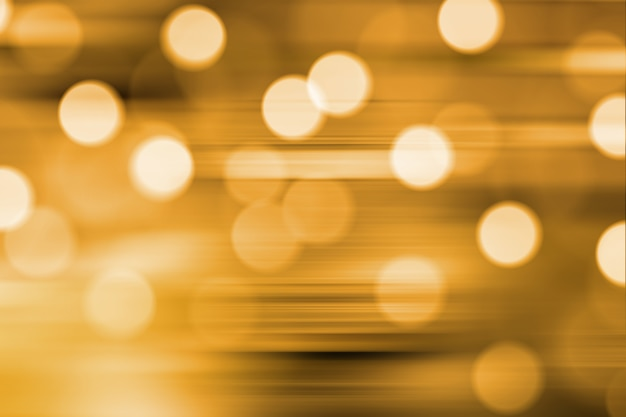 Wazig lights op gele gouden achtergrond