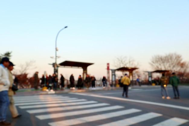Wazig straat in zuid-korea