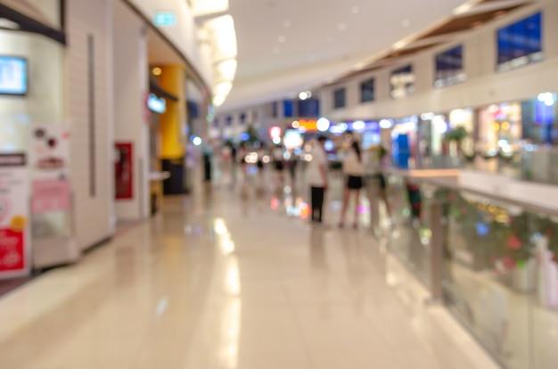 Wazig winkelcentrum