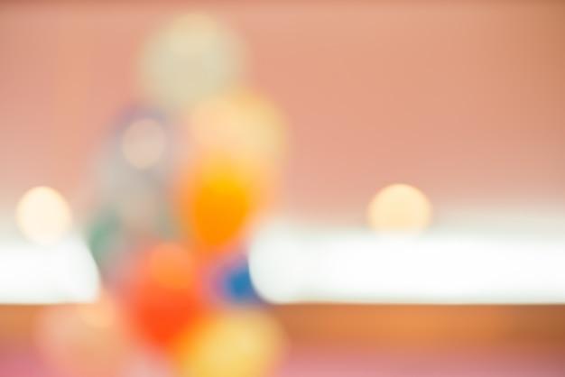 Wazige achtergrond: feestelijke decoratie met ballon, entertainment levensstijl concept, vintage gefilterd beeld.