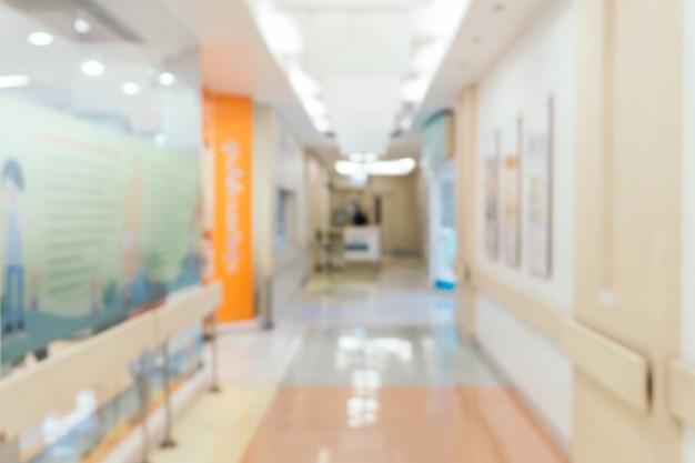 Wazige achtergrond: uitstekende filterpatiënt wachten op dokter.