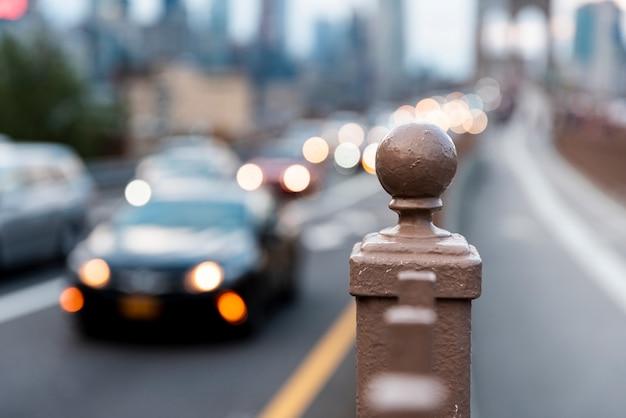 Wazige auto's in het verkeer