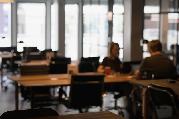 Wazige co-werkende ruimte achtergrond