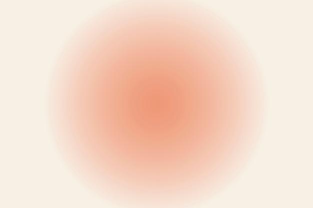 Wazige perzik cirkel achtergrond in gradiënt vintage stijl