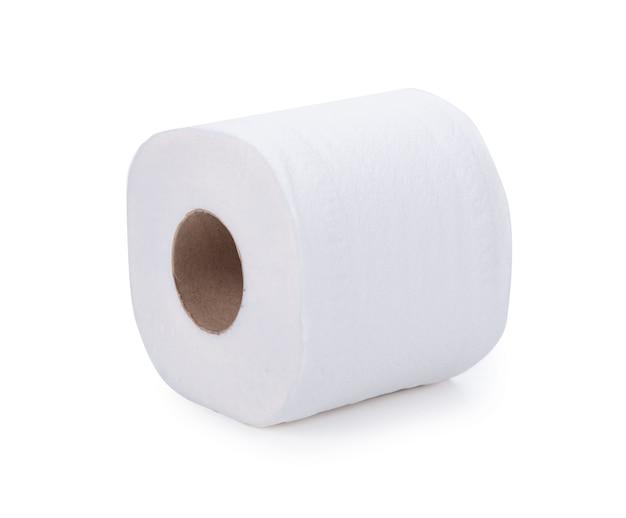 Wc-papier geïsoleerd op wit