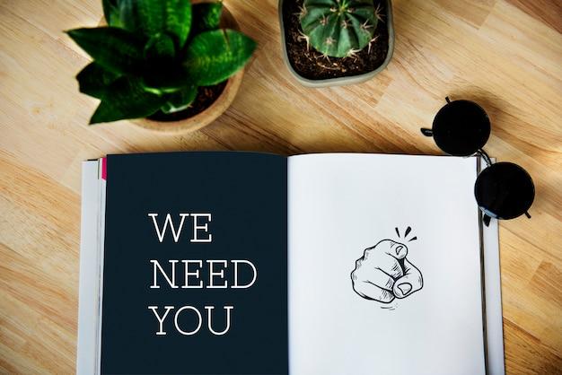 We hebben je nodig om werk in te huren