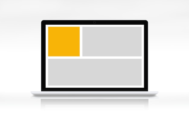 Web design template kopie ruimte concept