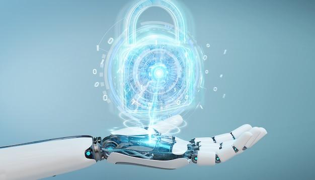 Webbeveiligingsinterface gebruikt door robot
