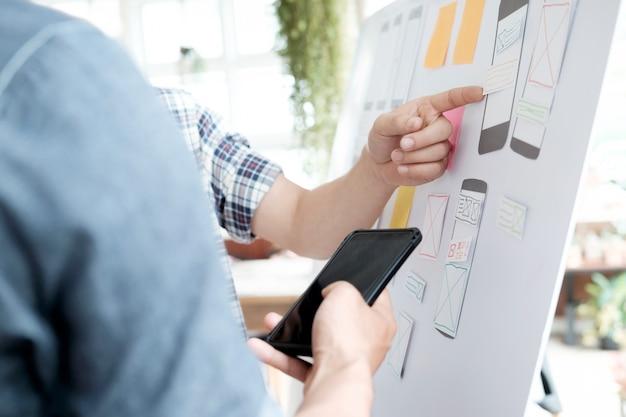 Webdesigner applicatie applicatie voor mobiele telefoon