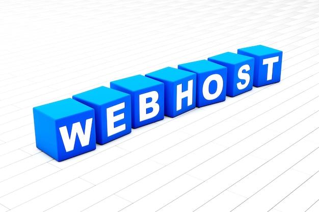 Webhost woord illustratie