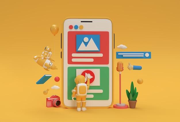 Webontwikkelingsbanner, marketingmateriaal, presentatie, online adverteren.