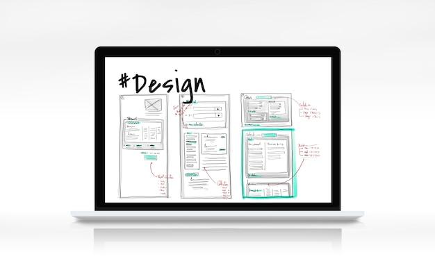 Webpagina inhoud ontwerp website pictogram