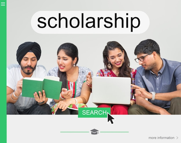 Webpagina voor universitaire beurzen